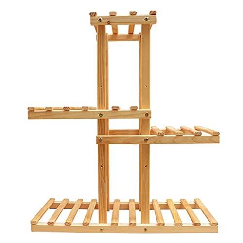 LDDYC Soporte para plantas, soporte de madera para plantas, soporte para exteriores, soporte de almacenamiento interior, adecuado para terraza de jardín, macetas, # 1 (color: # 2)