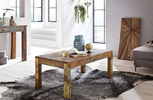 Wohnling Table Basse rectangulaire en Bois Massif Shabby Chic 110 x 47 x 60 cm