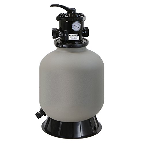 """XtremepowerUS 16"""" Above Inground Swimming Pool Sand Filter System 7-Way Multi-Port Valve Pool Filter up to 21,000 Gallons with Stand"""
