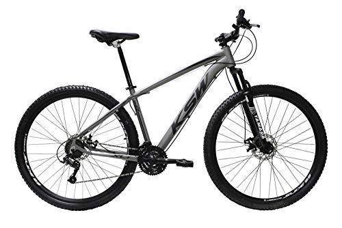 Bicicleta Aro 29 Ksw Alumínio 24 Marchas Freio A Disco (Grafite/Preto, 17)