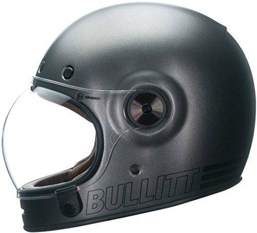 Bell Casco Bullitt Retrò Metallico Titanio, Titanio Metallico, Taglia S