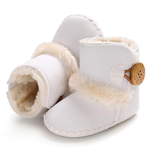 White Furry Infant Boots