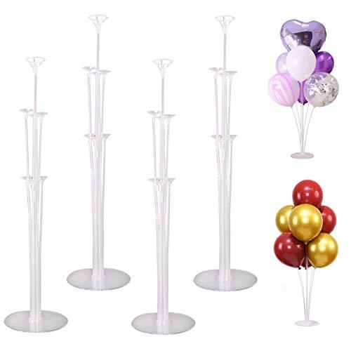 tarumedo Ballon Stick Halter, 4 Stück Luftballons Ständer Halter Ballonständer Luftballons Halter Balloon Stand kit Ballonständer Klarer für Party Geburtstag Hochzeits Dekoration