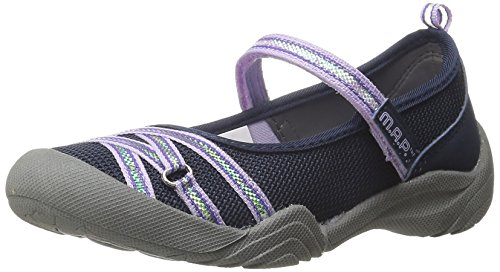 M.A.P Girls' LILLITH4 Mary Jane, Navy/Lilac, 2 M US Little Kid