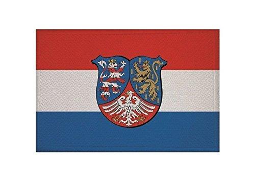 U24 Aufnäher Hessen-Nassau Fahne Flagge Aufbügler Patch 9 x 6 cm