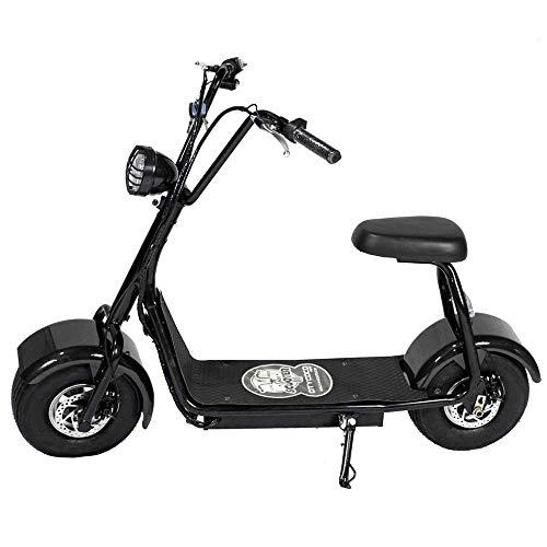 CityCoco MINI 800W/48V/12aH/Litio Negro Gran-Scooter