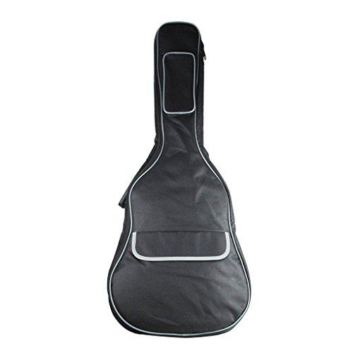 IKN Acoustic Guitar Bolsa con bolsa de algodón añadido Mochila con diseño de bolsillo con cremallera