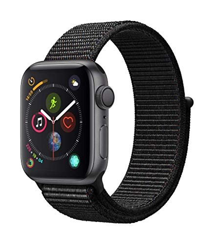 Apple Watch Series 4 (GPS, 40mm) Cassa in Alluminio Grigio Siderale e Sport Loop Nero