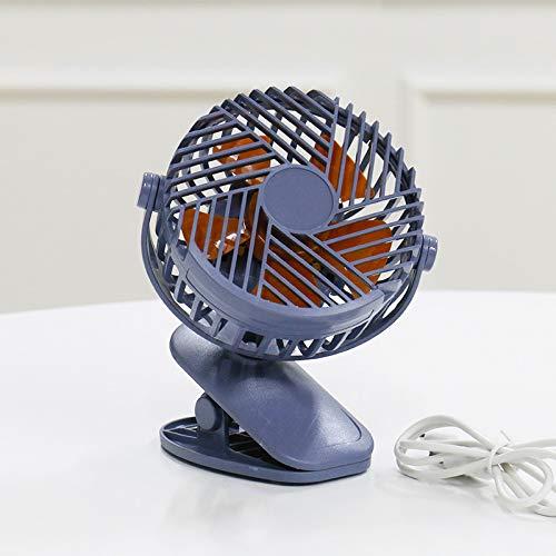 qingci Luz Nocturna De Escritorio Cargando Pequeño Ventilador Clip Ventilador 12 * 6.5 * 16CM Ventilador Clip Linterna Azul