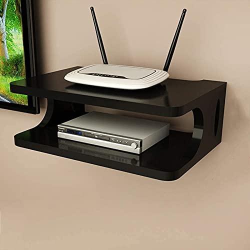 QLIGHA Soporte de Montaje en Pared Caja de TV Decodificador decodificador Módem Caja de Cable para enrutador WiFi Reproductor de DVD Dispositivo de transmisión Enrutador Rack/Reproductores de DVD