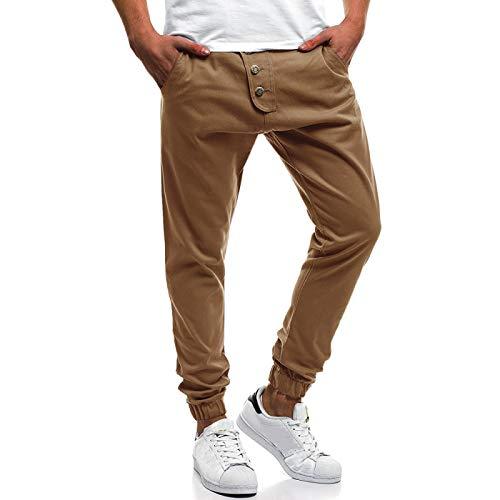 Pantalones de Talla Grande para Hombre, Moda, Color sólido, con un Solo Pecho, Costura, pies con viga, Ropa de Calle, Pantalones básicos Informales relajados 3XL