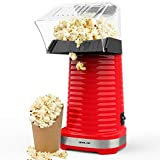 Hot Air Popper Popcorn Maker, 1200W Hot Air Popcorn Popper, Electric Popcorn Machine