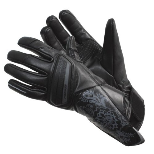 Roleff Racewear Lederhandschuhe für Damen, Schwarz, L