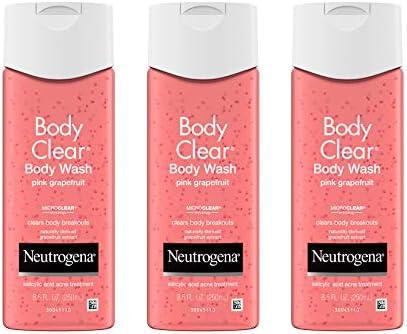 Neutrogena Body Clear Acne Treatment Body Wash with Salicylic Acid Acne Medicine Pink Grapefruit product image