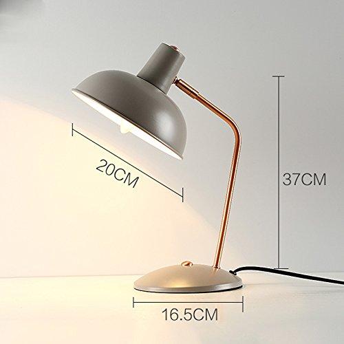 Luminaires & Eclairage-WXP Lampe de Bureau Ordinateur Lampe de Bureau Industriel Vent Table Lampe Bureau Bureau Lampe Bouton Commutateur Lampe de Table Mode Luminaires intérieur-WXP ( Couleur : Gris )
