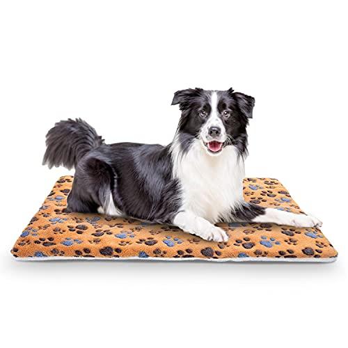 Nobleza Cama para Mascotas (Perro/Gato), súper Suave con Lindo Estampado   colchón cajón Reversible de Lana   colchón para Mascotas Lavable a máquina L100*W75CM