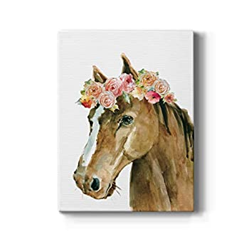 Renditions Gallery Horse Flower Crown Carol Robinson Gallery Wrapped Canvas Wall Art 16x20
