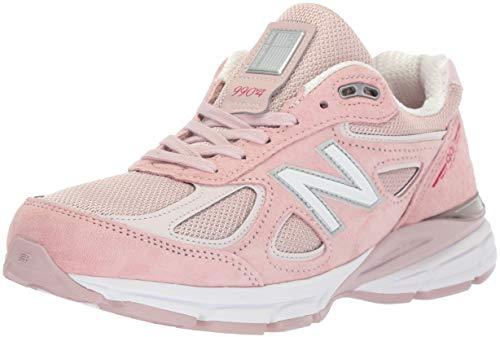 New Balance Women's Made 990 V4 Sneaker, Pink, 5 D US