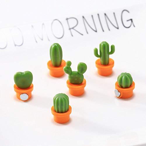 AIJ Kühlschrank Magnete Sukkulente Pflanze Magnet Kaktus Kühlschrank Nachricht Aufkleber Home Decor Küche, Orange Plus grün