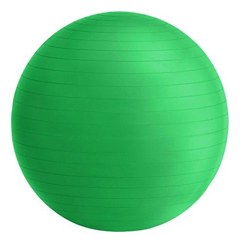 ArtSport Gymnastikball mit Pumpe grün | Ø 75 cm | bis 100 kg | 176 – 185 cm Körpergröße | PVC | rutschfest & Abriebfest | Fitnessball Pezziball Sitzball