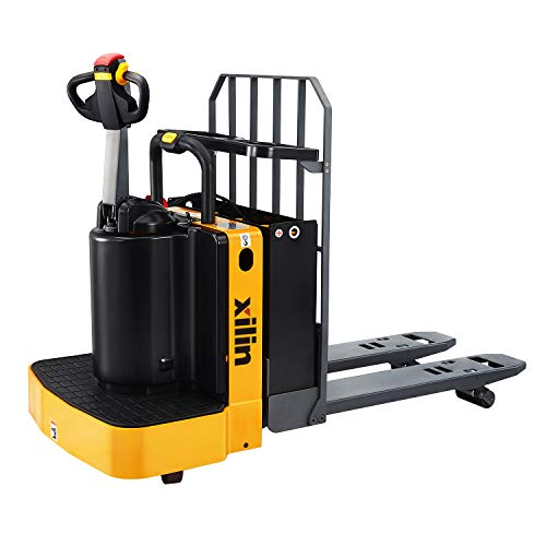 """Xilin Electric Powered Pallet Jack 5500lbs Capacity End Control Pallet Truck 48""""x27"""" Fork Size"""