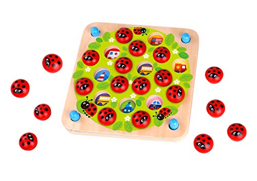 Fat Brain Toys Ladybug#039s Garden Memory Game Games for Ages 3 to 4
