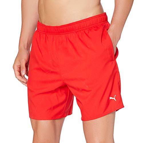 PUMA Men's Mid-Length Swim Shorts-Hidden Drawcord Pantalones Cortos, Rojo, XXL para Hombre