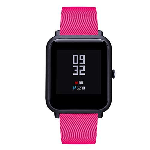 DIPOLA Correa de Reloj para Huami Amazfit Bip Youth Watch Accesorio de Silicona Suave Banda de Reloj Wirstband