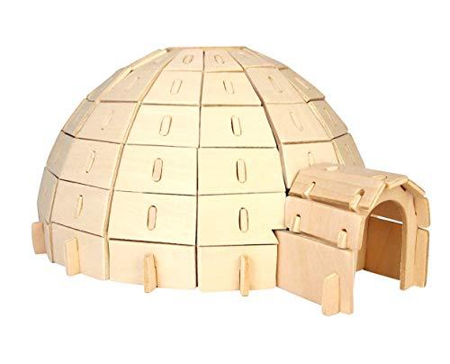 Iglu 3D Holzbausatz Holz Eskimo Haus Gebäude Steckpuzzle Bauwerk Holzpuzzle PH041