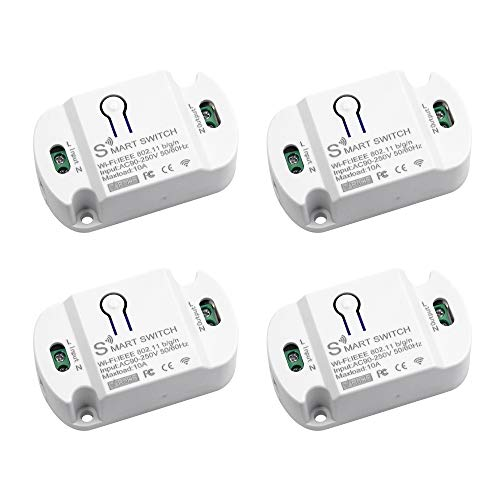 XUANWEI 10A Tuya WIFI Interruptor inteligente Teléfono móvil Control remoto inalámbrico Temporización Módulo de interruptor de control de voz