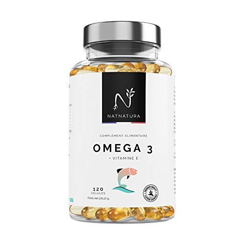 Oméga 3 – Huile de poisson sauvage (2 000 mg). 700 mg EPA | 500 mg DHA Vitamine E. 120 gélules de fish oil naturelle. NON GMP