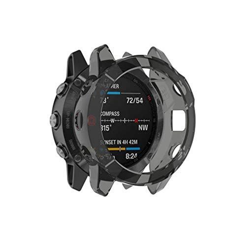 ibasenice Compatible con Garmin Fenix 6X Pro/Fenix 6X Sapphire/Fenix 6X Pro Solar – Protector de pantalla [Antiarañazos] TPU HD Ultra Thin accesorios Case
