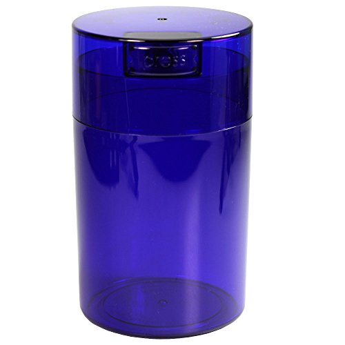 Tightvac - 1 oz to 6 ounce Vacuum Sealed Storage Container - Blue Tint