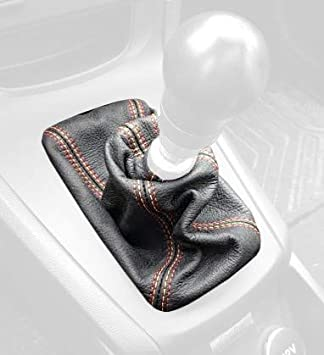 Black Perforated with Black Thread RedlineGoods Shift Boot Type 1 for ST Cars only for 2011-2019 Ford Fiesta