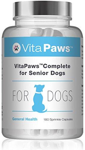 VitaPaws Multivitaminico per cani anziani - 180 capsule facili da aggiungere al cibo - SimplySupplements