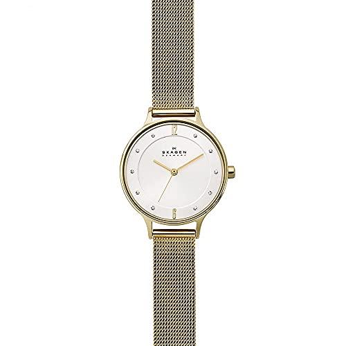 Skagen Damen Analog Quarz Uhr mit Edelstahl Armband SKW2150