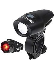 BV(ビーブイ) 自転車ライト USB充電式 防水 高輝度LED JIS前照灯規格適合品 ヘッドライト テールライト セット