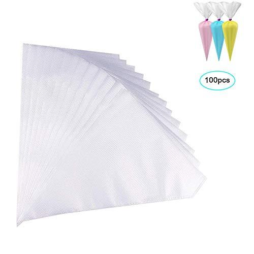 Heatigo 100 Stück Einweg Spritzbeutel Disposable Pastry Bag Pastry Piping Bags zum Dekorieren von Gebäck oder Torten geeignet
