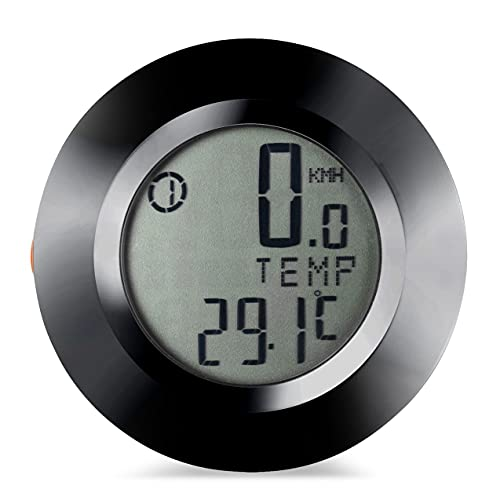 Zhou-YuXiang Sensors Lcd Backlit Bicycle Computer Speedometer Speed Meter Mileage Rainproof Bike Computer Round Shape