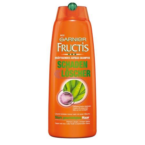 Garnier Fructis Haarshampoo Schaden Löscher, Kräftigendes Aufbau-Shampoo, 3er Pack (3 x 250 ml)