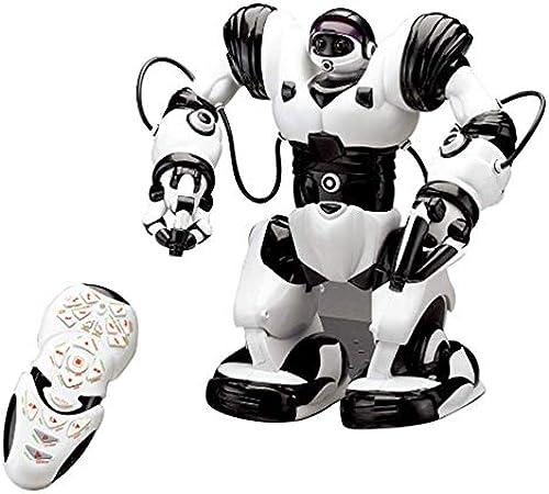 fsfdfhj RC Spielzeug Lntelligente Roboter-Spielzeug,mit Geste Sensing Programmieren Lernen Tanzen Singen Musik Walking, Für Kinder Geschenk -Schwarz