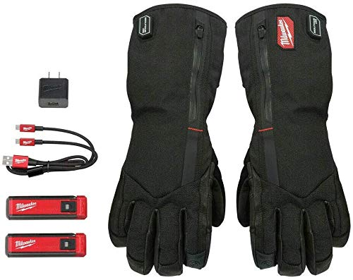 MILWAUKEE'S REDLITHIUM USB Heated Gloves with Battery and Charger (Large)