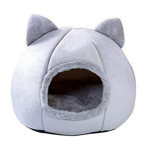 Tienda para cachorros y gatitos, casa para mascotas, nido, cálida y suave cama plegable para dormir, nido en invierno