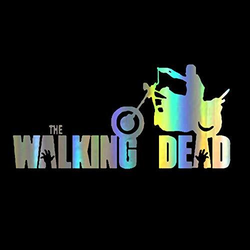 ZQZL Película Personalizada The Walking Dead Motocicleta Cuerpo Pegatina 14 cm * 6,6 cm