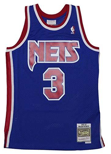 Mitchell & Ness NBA Brooklyn Nets Swingman 2.0 Drazen Petrovic Trikot Herren blau/rot, M