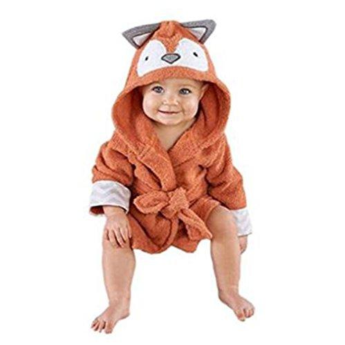 Mainaisi Bébé Serviette De Bain Animé Capuche Plage Peignoir 16 Couleurs (Little Fox)