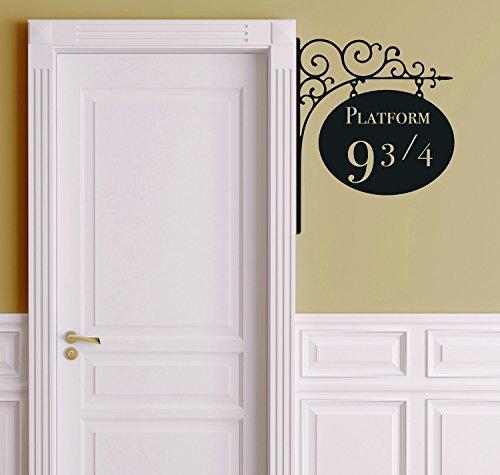 Amikim- Adesivo a decalcomania da parete in vinile, rimovibile, motivo: binario 9 3/4 di Harry Potter, per cameretta.