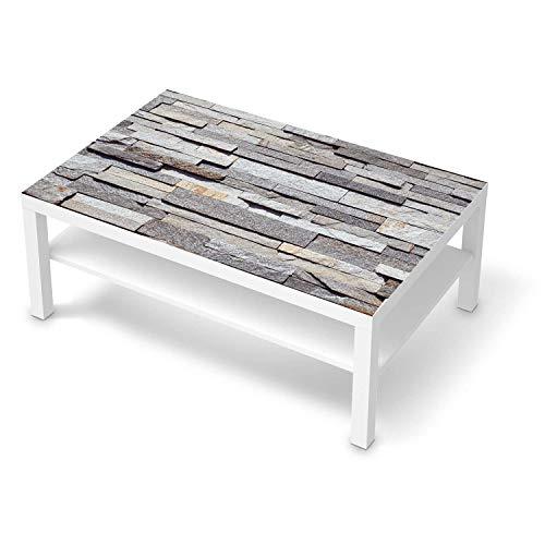 creatisto Wandtattoo Möbel passend für IKEA Lack Tisch 118x78 cm I Möbelaufkleber - Möbel-Tattoo Sticker Aufkleber I Wohnen und Dekorieren für Wohnzimmer und Schlafzimmer - Design: Granit-Wand