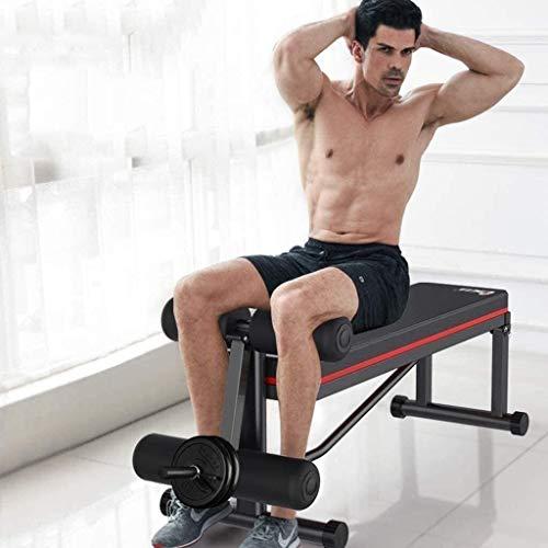 YGCBL Taburete ajustable multifuncional para pérdida de peso, silla de fitness comercial plegable Banco de prensa abdominales músculos abdominales equipo de fitness banco silla de fitness