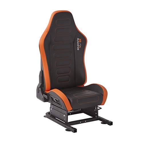 "X Rocker XR Racing Drift 2.1 Racing Seat, 26.7"" x 23"" x 35.4"", Black/Orange"